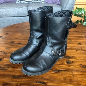 H&M Buckle Moto Boots